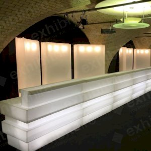 The Ped Bar is trendy and can be illuminated to impress your event guests.