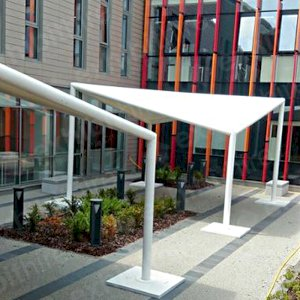 The Tetra Pergola is a unique and stylish structure ideal for outdoor events.