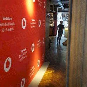 Vodafone Step and Repeat Wall.