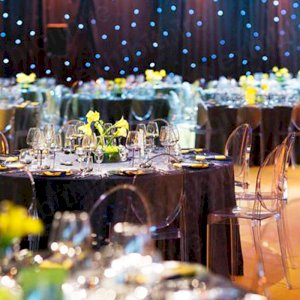 Our Victoria Ghost Chairs at a stunning banquet.