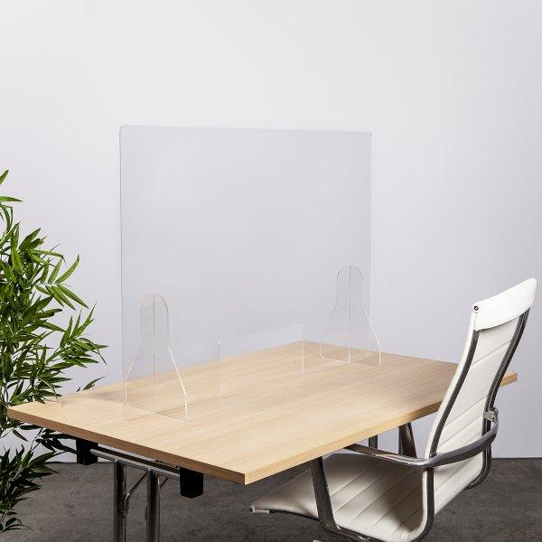 1000 x 700 Freestanding Desktop/Counter Covid Screen