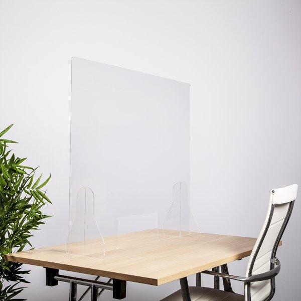 1000w x 850h Freestanding Perspex Screen Windowed