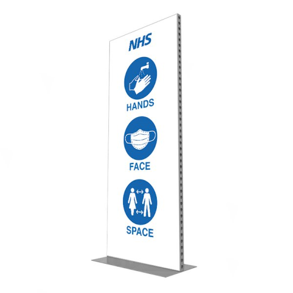 992 x 2418 Freestanding Covid Screen - Branded
