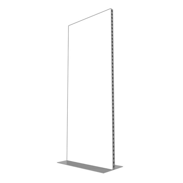 992w x 2418h Freestanding Aluminium Screen Plain