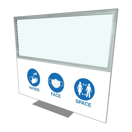 2418 x 1984 Freestanding Covid Screen - Branded