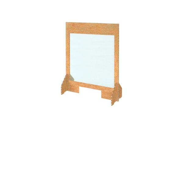 700w x 900h Freestanding Cardboard Screen Windowed