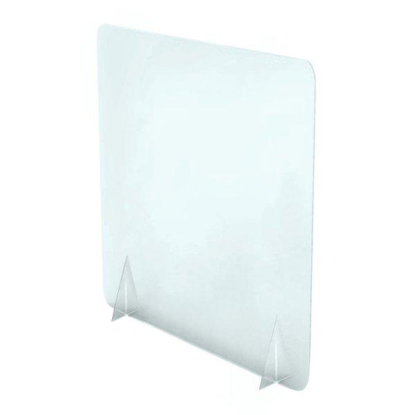 700w x 900h Freestanding Perspex Screen Non-Windowed