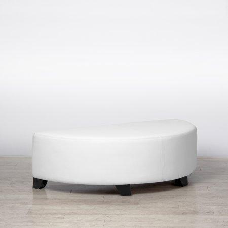 Bianco Half-Round Pouffe