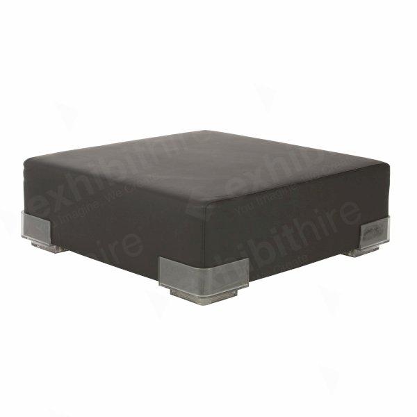Black Modular Pouffe Unit