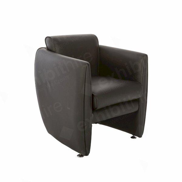 Boater Black Leather
