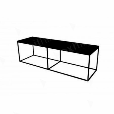 Box Frame Bench - Black 460 x 1600 x 460
