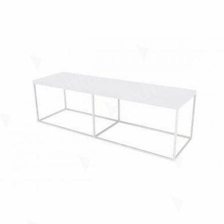 Box Frame Bench - White 460 x 1600 x 460