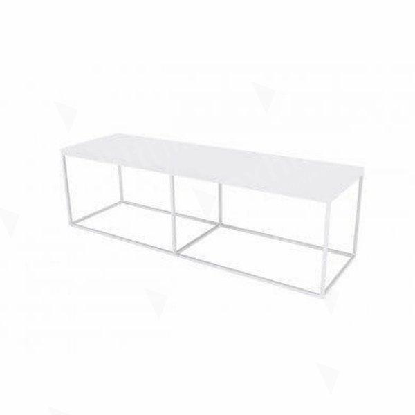Box Frame Bench - White 460 x 1600 x 460