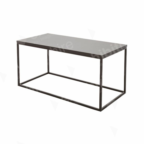 Box Frame Coffee Table Black 460 x 920 x 460 (h)