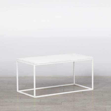 Box Frame Coffee Table White 460 x 920 x 460 (h)