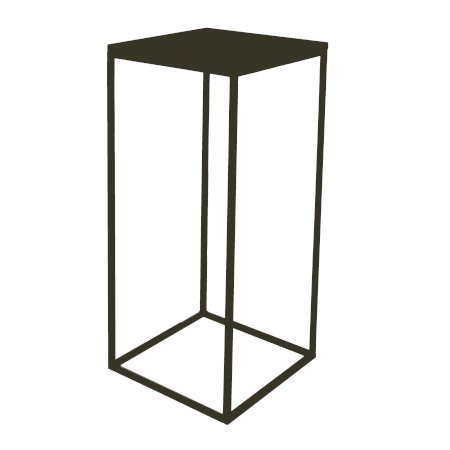 Box Frame High Table Black 460 x 460 x 1020 (h)