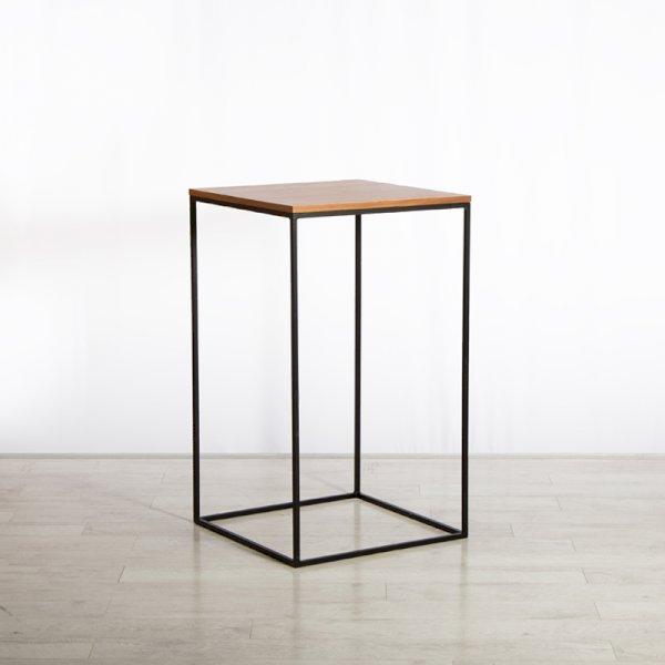 Box Frame High Table Walnut 600 x 600 x 1020 (h)