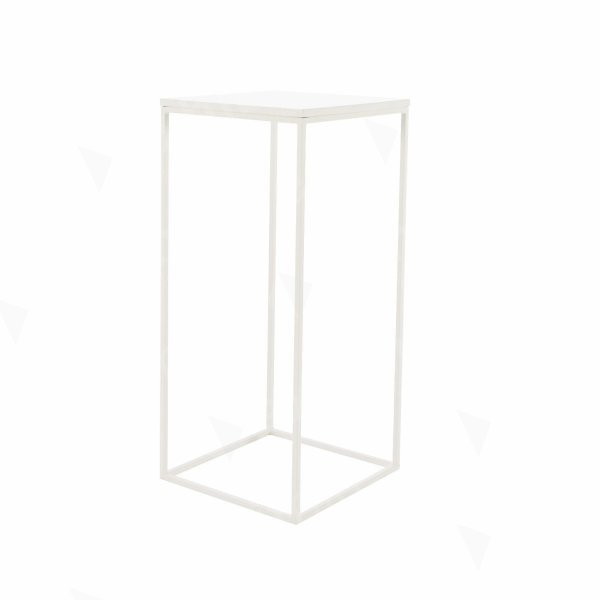 Box Frame High Table White 460 x 460 x 1020 (h)