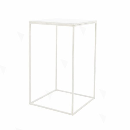 Box Frame High Table White 600 x 600 x 1020 (h)