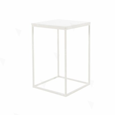 Box Frame Medium Table White 460 x 460 x 720 (h)