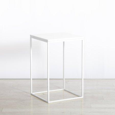 https://www.exhibithire.co.uk/Box Frame Medium Table White 460 x 460 x 720 (h)