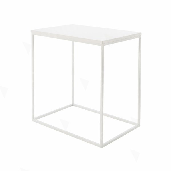 Box Frame Medium Table White 460 x 700 x 720 (h)