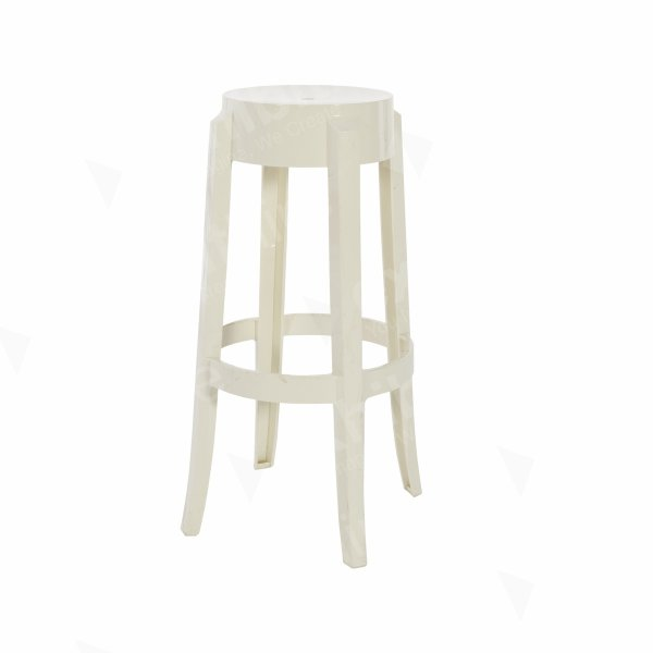 Charles Ghost High Stool White