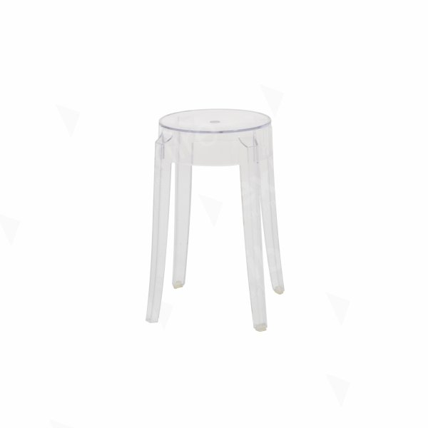 Charles Ghost Low Stool Clear