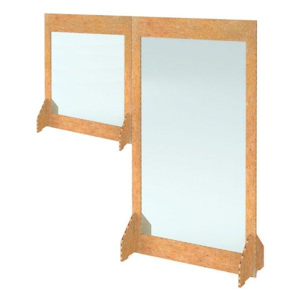 1700w x 1800h Freestanding Cardboard Desk Divider 2-Piece