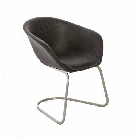 Duna Chair Black Leather
