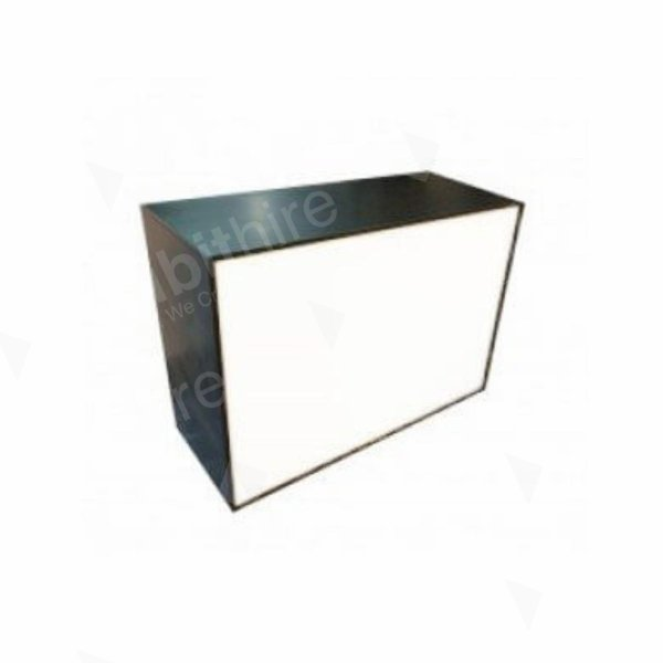 Illuminated Reception Counter Black 1400 x 600 x 1000