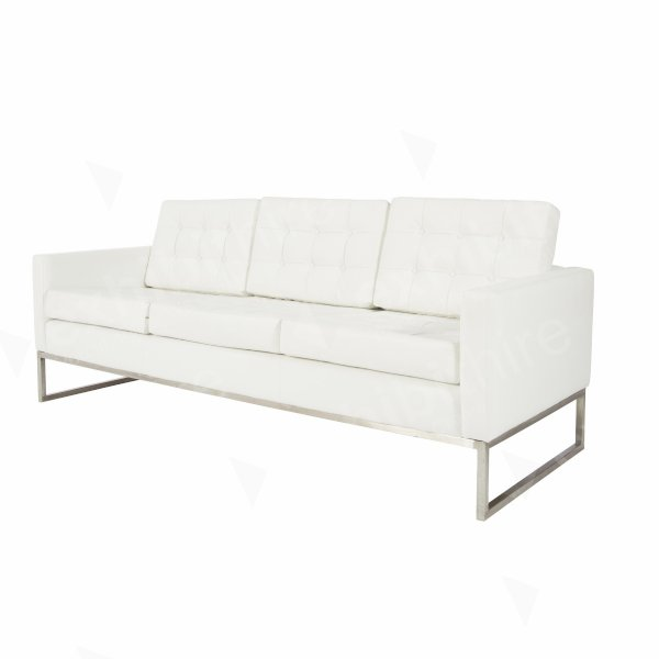Knoll Large Sofa White
