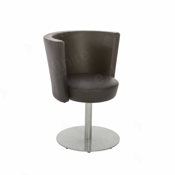 Konic Chair Black Leather