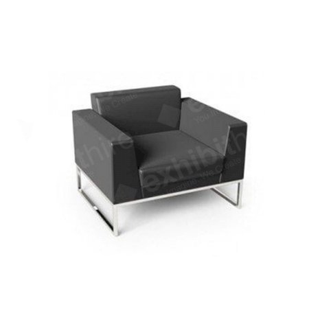 Lay Chair Black Leather