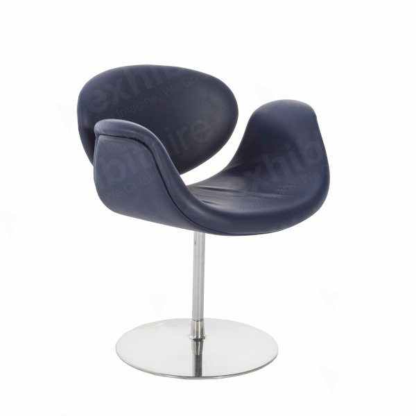 Little Tulip Chair Blue Leather