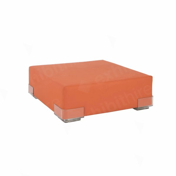 Orange Modular Pouffe Unit