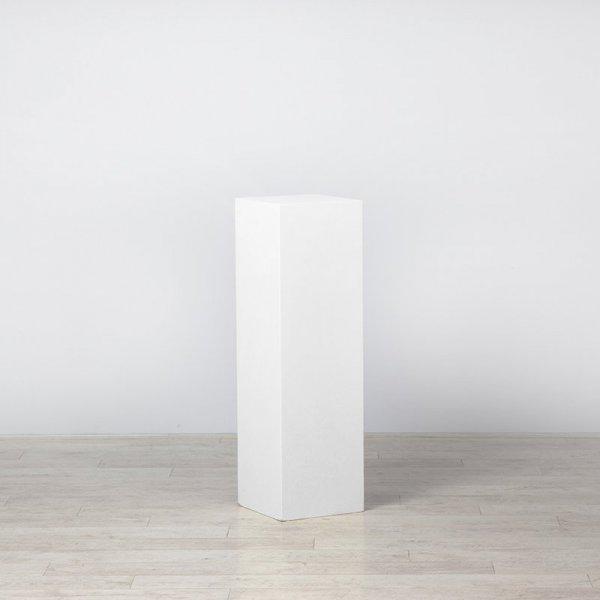 Plinth White 400 x 400 x 1000