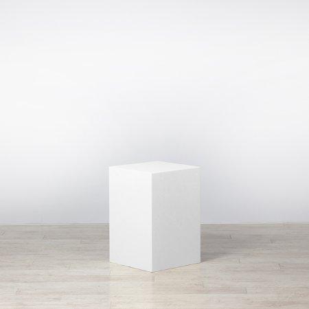 Plinth White 400 x 400 x 600
