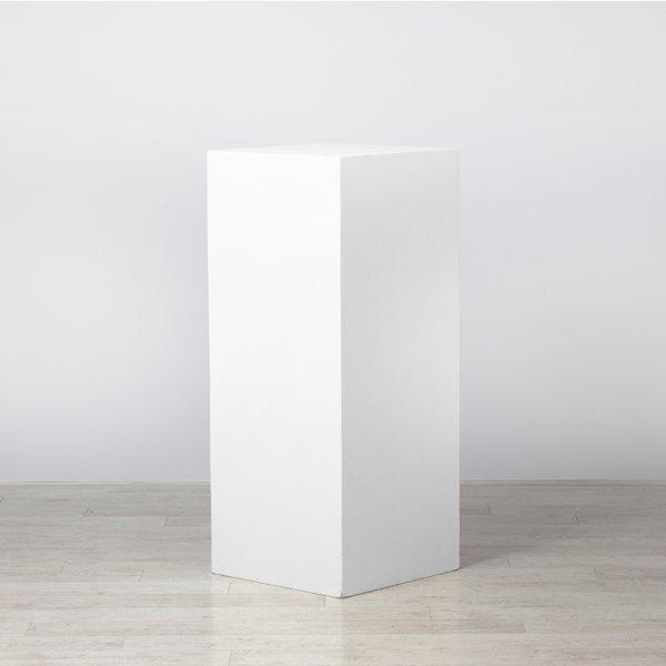 Plinth White 500 x 500 x 1200