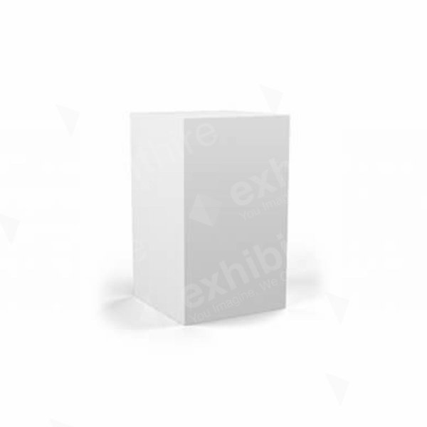 Plinth White Lockable 600 x 600 x 1000