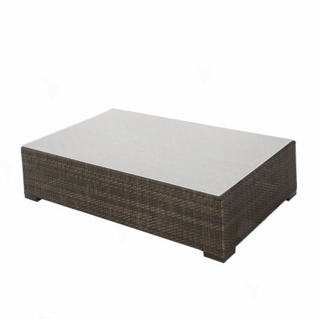 Rattan Coffee Table Large Brown