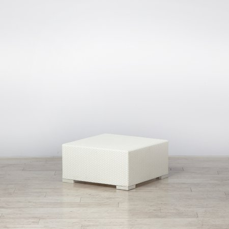 Rattan Coffee Table Small White