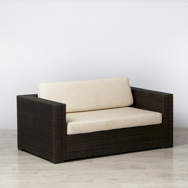 Rattan Sofa Brown