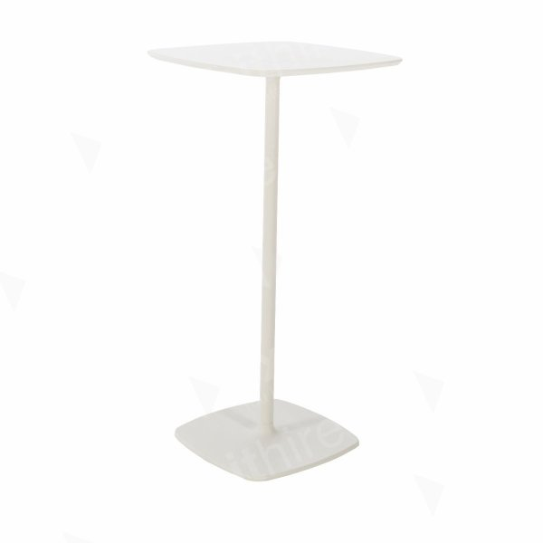 Soft Square Bar Table White