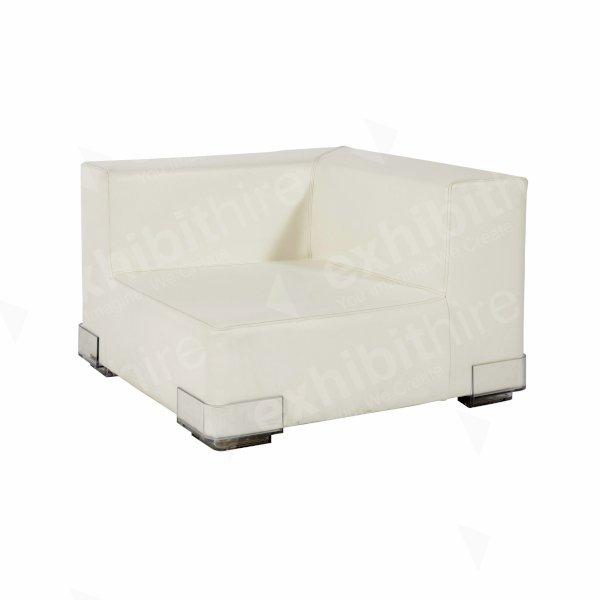 White Modular Corner Unit