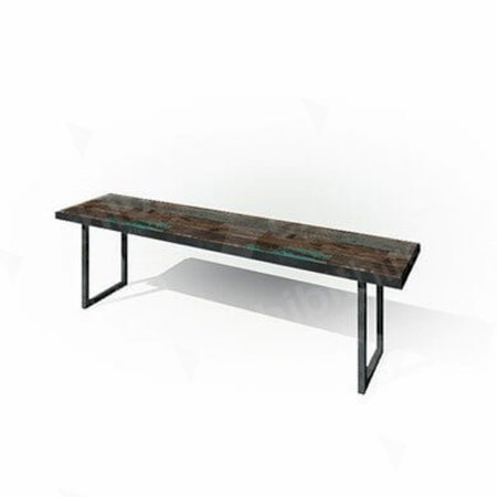 Zeitlos Bench 1800 Dark Wood