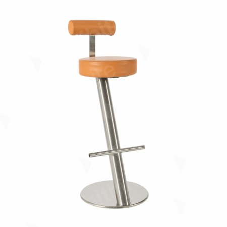 ZX Stool Orange + Back Rest