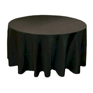 108 Inch Round Black Tablecloth