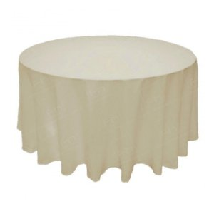 108 inch Round Ivory Tablecloth