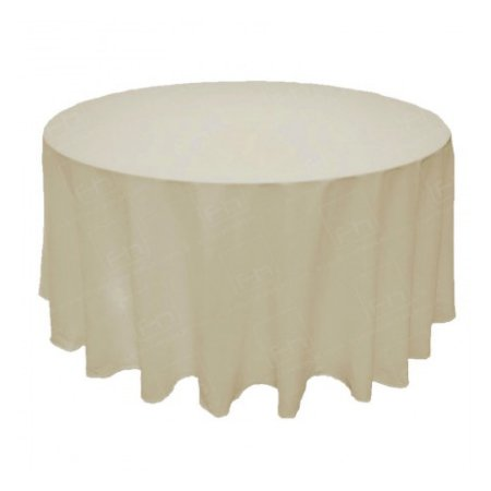 1220mm Round Table Cloth - Ivory